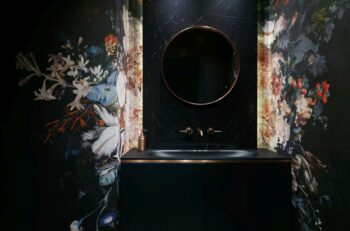Tapeta w łazience