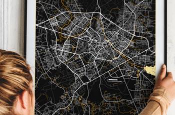 plakat z mapą miasta